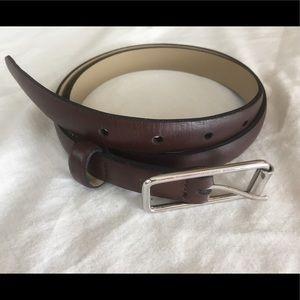 "Banana Republic Leather 6/8"" wide belt, Brown, am"